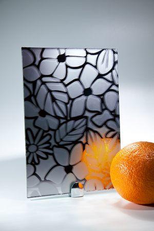 "Зеркало ""Цветы"" графит Абакан"