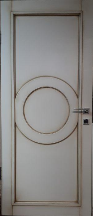 Межкомнатная дверь в профиле массив (эмаль с патиной) Абакан
