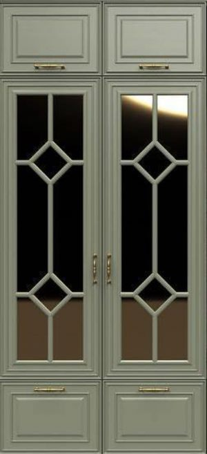 Фасад с фигурной филенкой эмаль Абакан