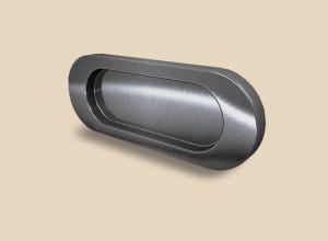 Ручка серебро глянец овальная Италия Абакан