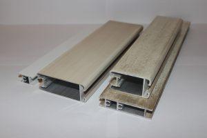Профиль алюминиевый для шкафа купе, межкомнатных перегородок эмаль +патина Абакан