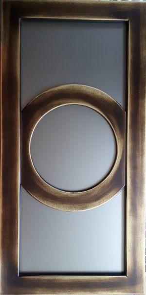 Фасад с фигурной филенкой эмаль+золотая патина Абакан