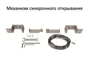 Механизм синхронного открывания для межкомнатной перегородки  Абакан