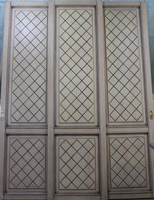 Двери для шкафа купе с фрезеровкой Абакан