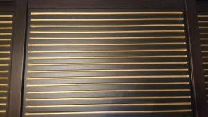 МДФ шпон с фрезеровкой+патина золото Абакан